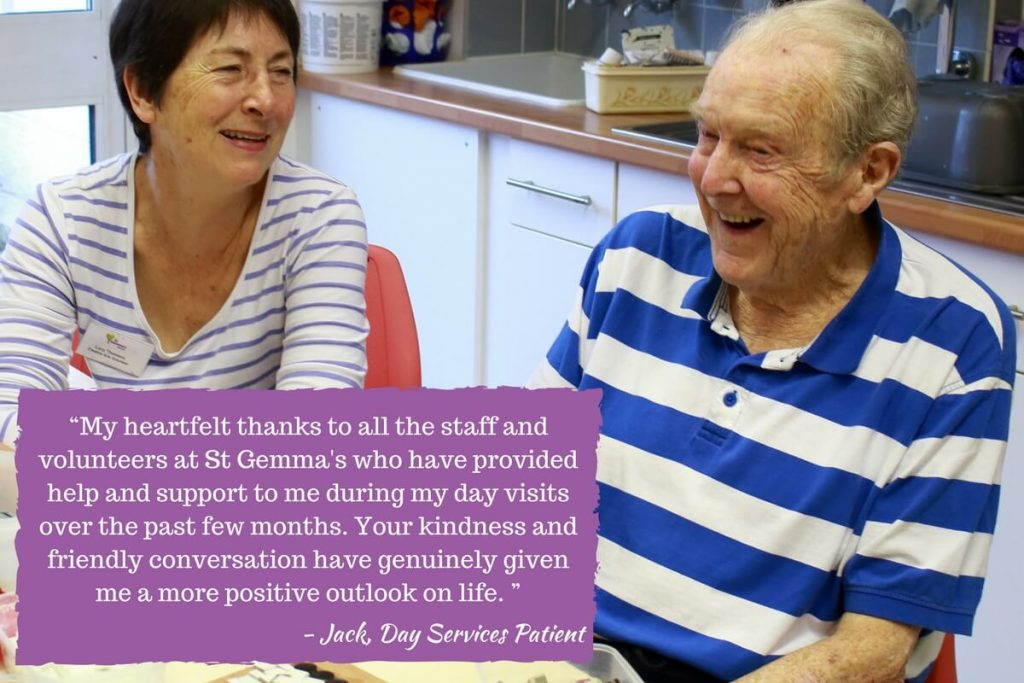St Gemma's Day Services Patient Quote