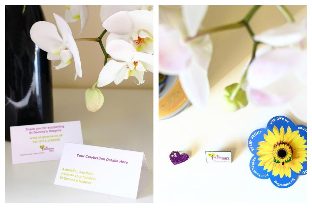 St Gemma's Hospice Wedding Favours and Special Occasion Favours