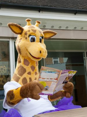 Gemma the Giraffe reading