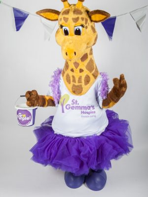 Gemma the Giraffe in purple