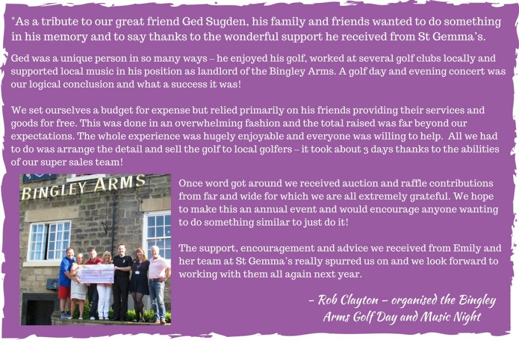 The Bingley Arms Fundraising Quote