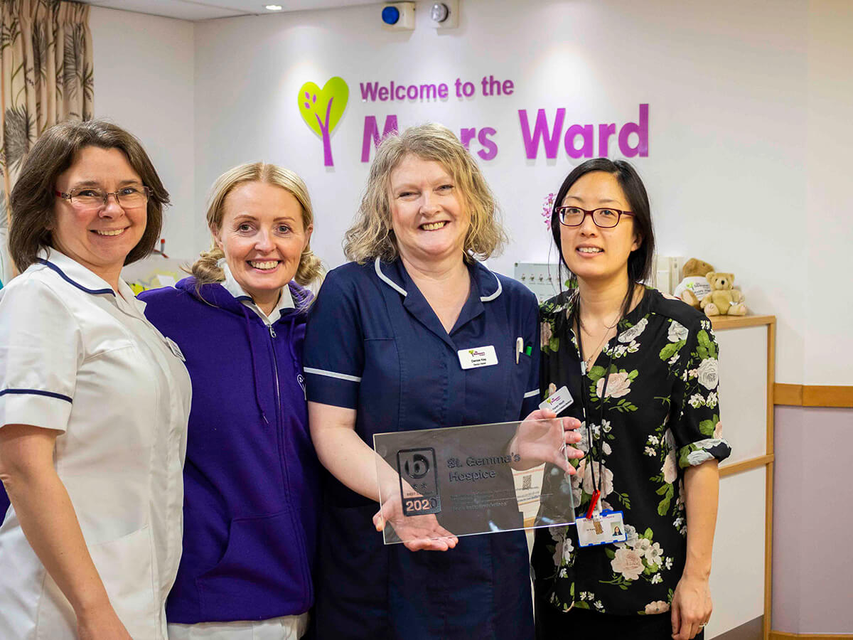 Clinical Staff holding Best Companies Award