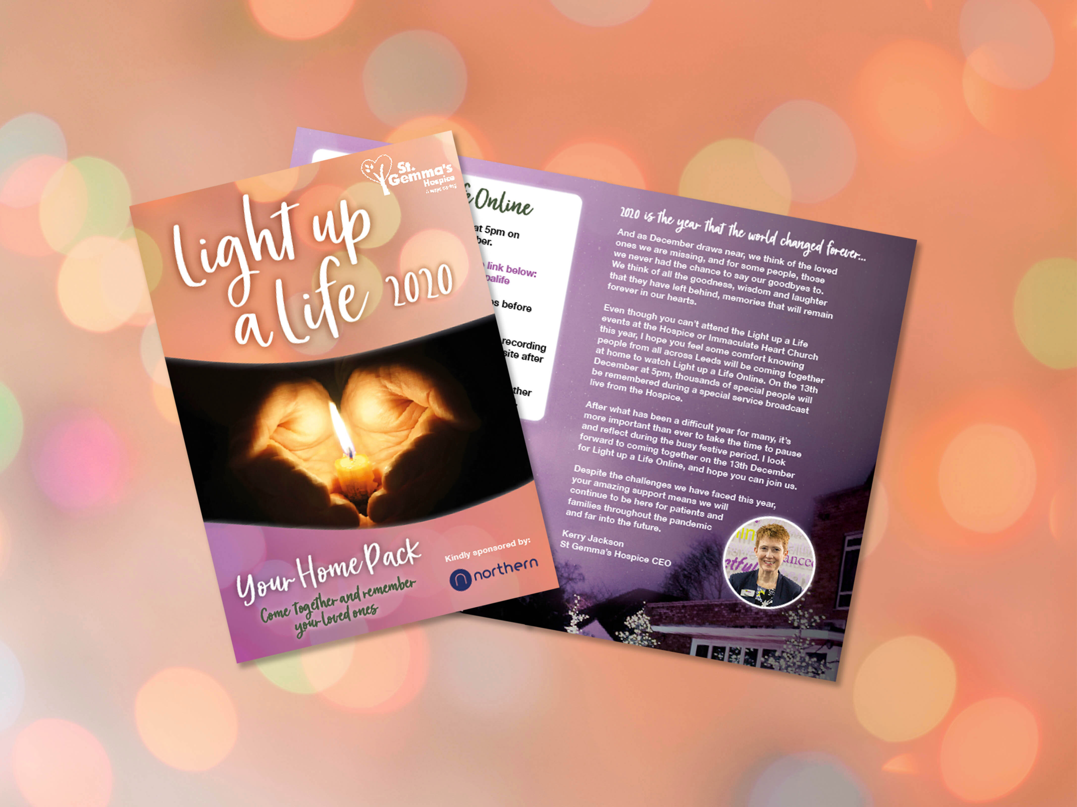 Pages from the Light up a Life home pack