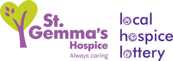 St Gemma's Hospice logo and Local Hospice Lottery logo